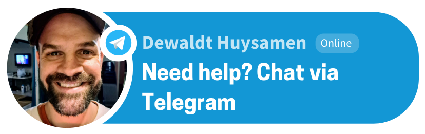 DEWALDT HUYSAMEN TELEGRAM BUTTON